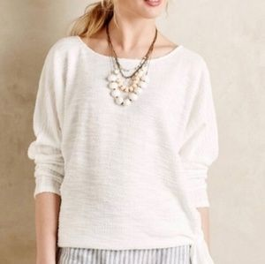 Anthro Sunday in Brooklyn White Dolman Tied Top XS